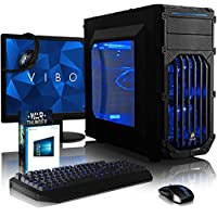"VIBOX Lynx 8 Gaming PC Computer with War Thunder Game Voucher, Windows 10 OS, 22"" HD Monitor (4.2GHz Intel i7 Quad-Core Processor, Nvidia GeForce GTX 1060 Graphics Card, 32GB DDR4 RAM, 3TB HDD)"