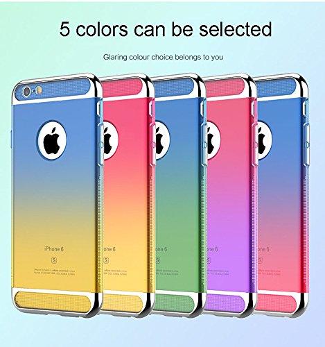 Custodia iPhone 6 6S Plus Vanki® 3 in 1 Soft TPU Hard PC Bumper Ultra Slim Protettiva Posteriore Copertura Antiurto Antigraffio Case Cover per Apple iPhone 6/6s verde + blu