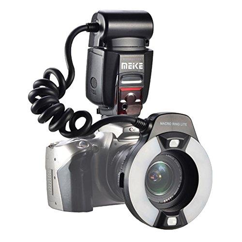 Meike MK 14EXT iTTL TTL LED Macro Anello Flash Light per Nikon D4 D800 D5200 D7100 Fotocamera DSLR con supporto per slitta caldo