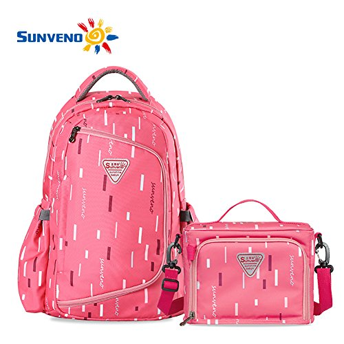 sunveno-large-capacity-backpack-baby-diaper-nappy-changing-bag-multifunctional-mummy-bag-rose