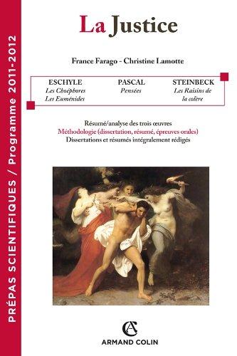 La justice: Prépas scientifiques - Programme 2011-2012