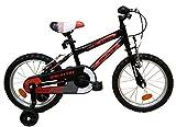 "Discovery 16"" Bicicleta infantil, Negro/Naranja, Talla Única"