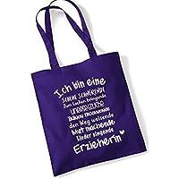Geschenk Erzieherin Tasche für Erzieherinnen lila