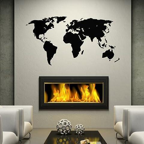 'Adesivo da parete adesivo mappa del mondo
