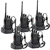 Baofeng BF-888S de largo alcance UHF 400-470 MHz 5W CTCSS DCS portátil de dos vías de radio de jamón(5 unidades)