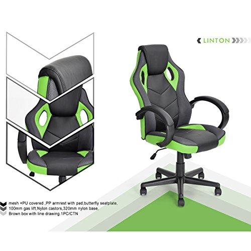 nbf-fateuil-de-escritorio-gaming-deporte-asiento-racing-para-ordenador-pu-piel-sintetica-verde-negro