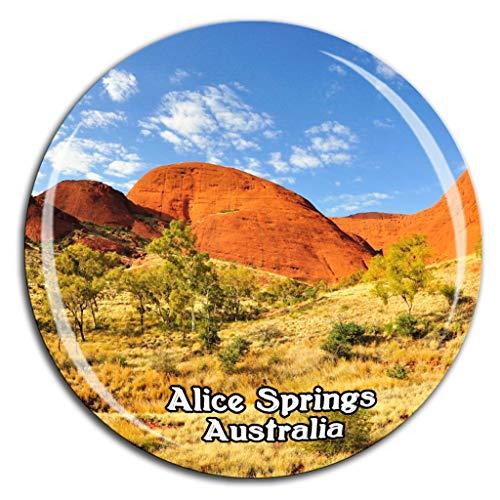 Weekino Alice Springs Desert Park Australien Kühlschrankmagnet 3D Kristallglas Tourist City Travel Souvenir Collection Geschenk Starke Kühlschrank Aufkleber