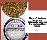 13 HERBS TO DEEP CONDITIONER HAIR TEA RINSE- HERBAL DETANGLER HYDRATOR TREATMENT FOR DANDRUFF DRY ITCHY SCALP PSORIASIS AFRO AND CAUCASIAN VEGAN HAIRCARE Can be used with APPLE CIDER VINEGAR