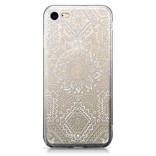 CASEiLIKE iPhone 7 Hülle, iPhone 7 TPU Schutzhülle Tasche Case Cover, Comic Beschriftung 2914, Kratzfest Weich Flexibel Silikon für Apple iPhone 7 Indische Linie Kunst 2061