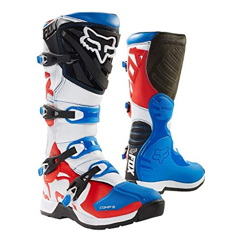 Fox Boots Comp 5, Blue/Red, Tamaño 11