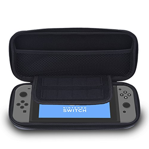 Price comparison product image Blulu EVA Hard Shell Tough Pouch Carrying Case for Nintendo Switch, Grey