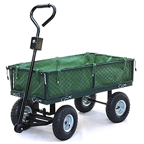 Hand Cart - SODIAL(R) Small-scale 200kg Metal Garden Outdoor Utility Hand Cart with Interior Cover