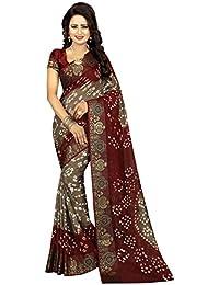 Shree Sondarya Bandhani Women's Art Silk Saree With Blouse Piece (Ssb-S3165-01_Multicolor)