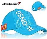 Calentamiento óhmico Honda Fernando Alonso McLaren Mens sombrero del casquillo Headwear Mens azul cielo