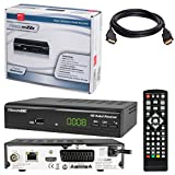 HB-DIGITAL SET: Micro electronic Microm22c HD Receiver für digitales DVB-C Kabelfernsehen (HDMI, SCART, USB 2.0, LAN, Mediaplayer) 22c + HDMI Kabel