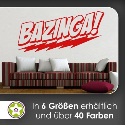 BAZINGA! Wandtattoo in 6 Größen - Wandaufkleber Wall Sticker