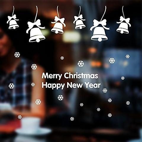 Negozio finestra adesivi parete adesivi decorazioni festivo camera decorazione azienda Mall Jingle Bell Natale ornamenti