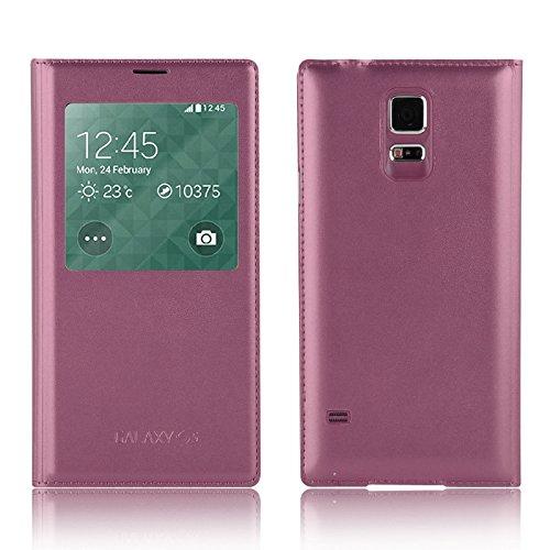 Galaxy S5 Funda Smart View, JAMMYLIZARD Carcasa De Piel Tapa Tipo Libro...