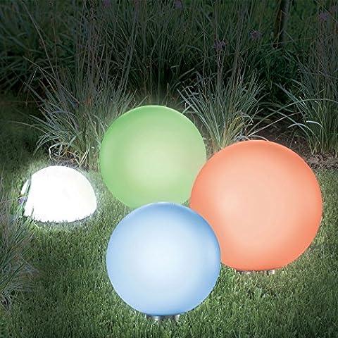 IDMarket - LAMPE BOULE SOLAIRE COLOR 30