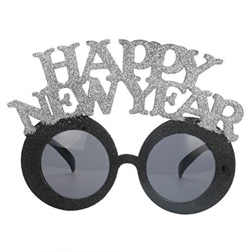 y Brille Happy New Year Sonnenbrille Neujahr Brille Foto Props (Silvester Sonnenbrille)