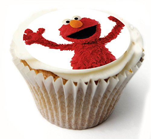 Elmo Sesame Street 20 x PRE-CUT Fairy cake CUPCAKE Edible Topper Decorations Printed On Premium quality Edible Wafer…