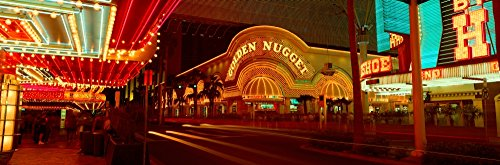 The Poster Corp Panoramic Images - Panoramic View of Golden Nugget Casino and neon Sign in Las Vegas NV Photo Print (91,44 x 30,48 cm) -