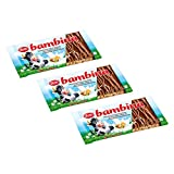 Zetti Bambina Vollmilchschokolade 3er Pack (3 x 100 g) mit gerösteten Haselnusssplittern