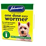 Johnson's One Dose Easy Wormer Dogs Up To 6kg SIZE 1 (TP)(JEDWS/GREENPACK)