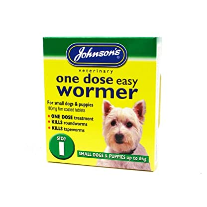 Johnson's One Dose Easy Wormer Dogs Up To 6kg SIZE 1 (TP)(JEDWS/GREENPACK) 1