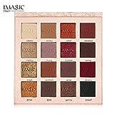 Gaddrt Reflet brillant fard à paupières ombre Matte maquillage cosmétique, 16 couleurs