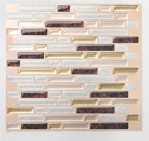 Tic Tac Tiles Tic Tac Tile Anti-Schimmel schälen und stecken Wand-Fliese In Como Maroon 10 10