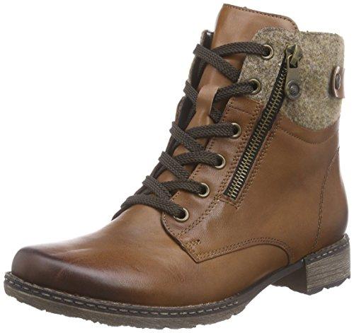 Remonte Damen D4379 Combat Boots, Braun Wood/Muskat / 24, 41 EU