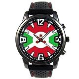 Burundi Reloj para hombre con correa de silicona