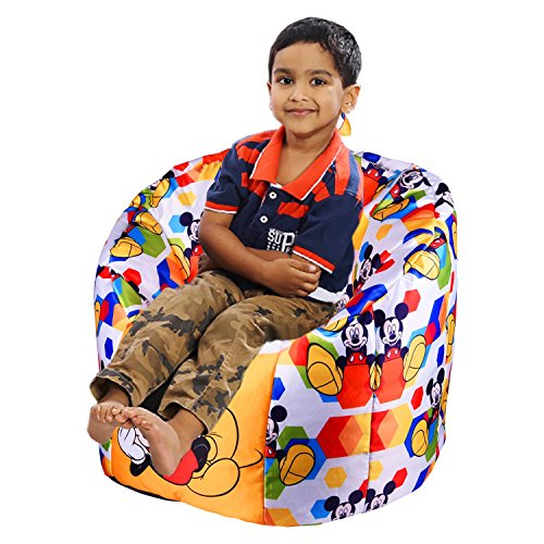 Orka Bean Bags Micky Mouse Digital Printed Kids Boss Chair Filled With Beans  available at amazon for Rs.1899