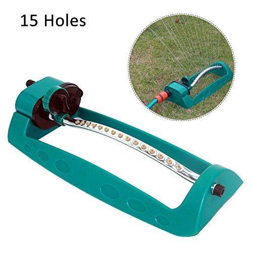 Plastique d'irrigation de pelouse d'entretien de pont 15 trous Arroseur oscillant automatique non bloquant avec la buse