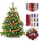 48 Weihnachtskugeln Rot glänzend glitzernd matt Christbaumschmuck Ø 3 cm Baumschmuck Weihnachten Deko Anhänger (Lila)