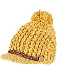 Roblue Bonnet Maglia Sfera in Lana Donne Doppio Interno Cappello Caldo  Inverno Giallo 56-58cm c094ed8232a4