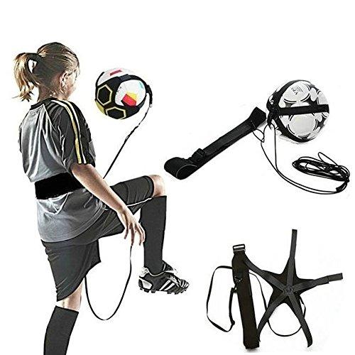 Fußball Trainingsball mit verstellbarem Gummiband, elastischer Gürtel, Fußball-Trainingsausrüstung Free Size Schwarz