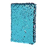 GROOMY Bloc-Notes A5 pour Bloc-Notes, carnet de Notes, Paillettes, mémos, Papeterie, Fournitures de Bureau, Papeterie, 78 Feuilles, Bleu lac