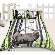 Nueva llegada. 3d Gorgeous bosque ciervo juego de funda nórdica (funda de almohada/-S incluido), matrimonio