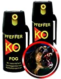 4er Set Pfefferspray KO FOG 40ml - Aktivhandel
