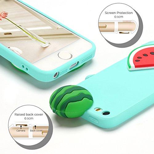 Cover iPhone 5S Spiritsun Case iPhone 5 Custodia iPhone SE Moda Ultraslim Soft TPU Case 3D Diy Handy Kawaii Cover High Quality Case Elegante Souple Flessibile Liscio Copertura Perfetta Protezione Shel Anguria