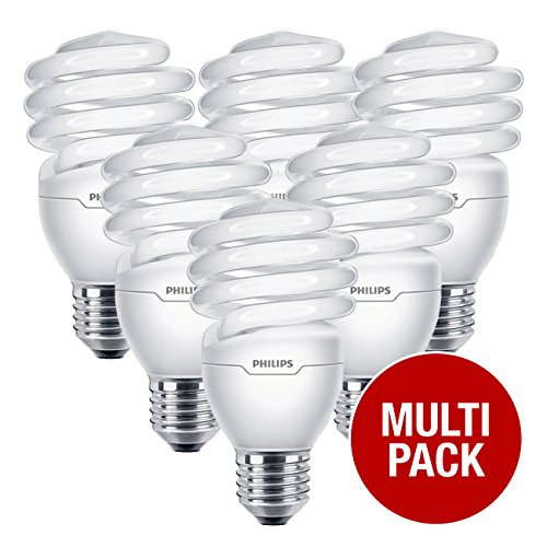 Philips Tornado 23 Watts (110 Watts Equivalent) E27 Warm White Spiral Energy Saver Bulbs (6 Pack) -