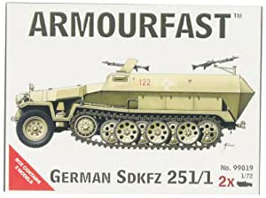 Armourfast 1/72 German SDKFZ 251/1 Model Kit - Contains 2 Vehicles