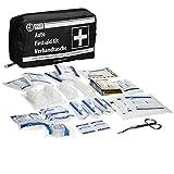 ECD Germany KFZ-Verbandtasche Inhalt nach DIN 13164 Schwarz mit Rettungsdecke