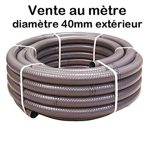 PVC-Schlauch, halbstarr, zum Kleben, Durchmesser 40 mm, für Schwimmbecken und Pool, Meterware