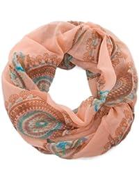 style3 Damen Loop Sommerschal mit Paisley-Kreisen in verschiedenen Farben