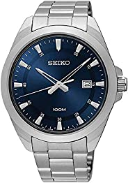 Seiko Men's SUR207 Silver Metal Quartz Fashion W