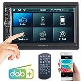 Creasono Radio: 2-DIN-DAB+/FM-Autoradio, Touchdisplay, Bluetooth, Freisprecher, 4x45 W (Doppel-DIN Autoradio DAB)