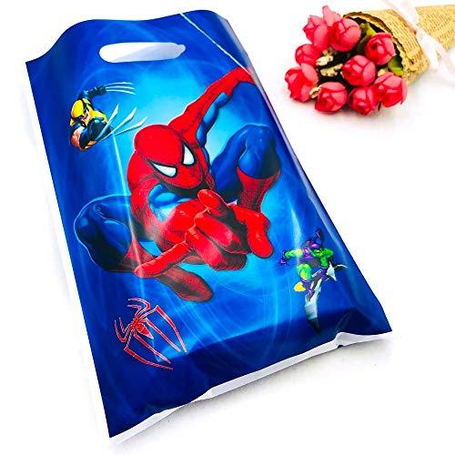 Uniqus 10 Stück/Set Marvel Comics Spiderman Boy Party Supplies Geschenktüte Süßigkeiten/Loot Bag Cartoon Festival Geburtstag Dekoration Party Supplies (Marvel-geburtstag Party Supplies)